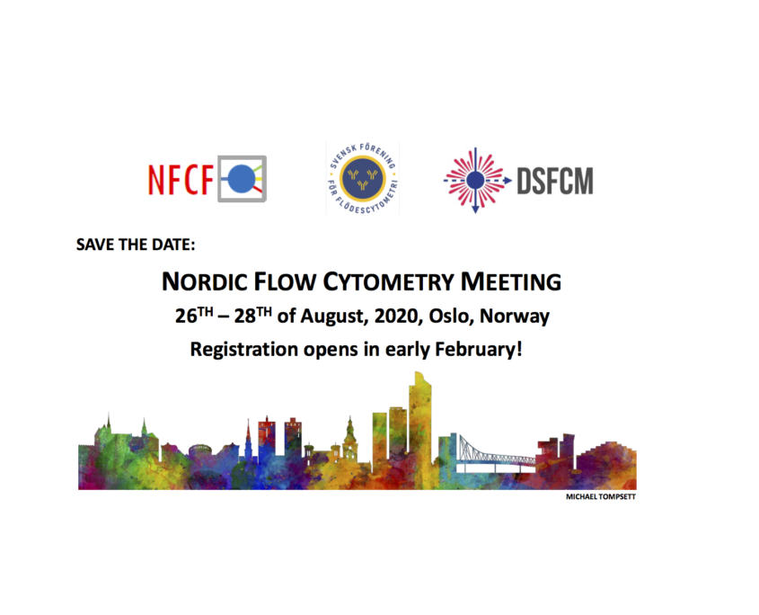 Save the date: Nordic Flow Cytometry Meeting 25-27/8-2021 Oslo